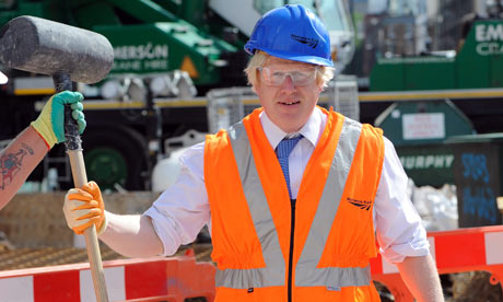 Boris Johnson at a photocall at King's Cross Square