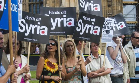 Stop The War protest at Commons against involvement in Syrian conflict