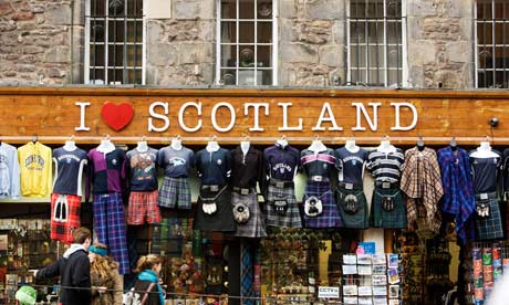 I love Scotland souvenir shop