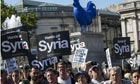Protests against possible U.S strike on Syria in London