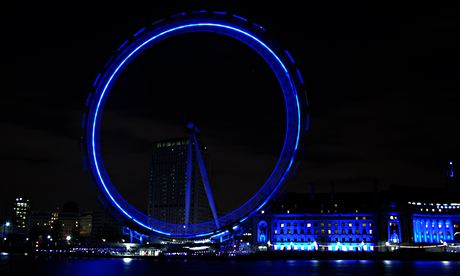 London's Southbank Lights turn off in the city to mark Earth Hour in London