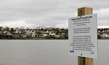 MoD warning of radioactive contaminants found on Dalgety Bay beach, Fife