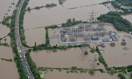 Power plants and electricity distribution networks are particularly vulnerable to droughts and floods.