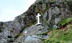 Country Diary : The white cross on Fleetwith Pike, Buttermere, which commemorates Fanny Mercer