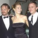 Gwyneth Paltrow with co-stars Daniel Craig (r) and Jared Harris