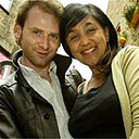 Ben Crowe and Preti Taneja, who made The Man Who Met Himself