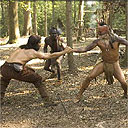The Native Americans clash with English settlers in The New World