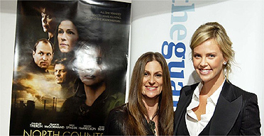 Niki Caro and Charlize Theron at the Guardian NFT Interview, 1 February 2006
