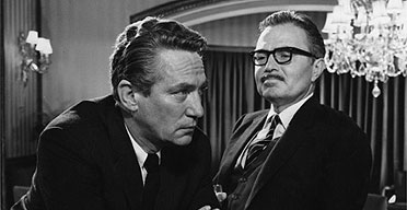 Peter Finch and James Mason in The Pumpkin Eater