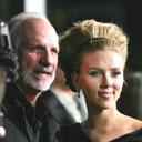 Brian De Palma and Scarlett Johansson
