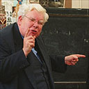 Richard Griffiths filming The History Boys