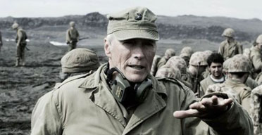 Clint Eastwood on the set of Flags of our Fathers
