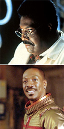 Eddie Murphy in The Adventures of Pluto Nash and The Nutty Professor