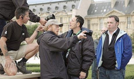 Ron Howard directing The Da Vinci Code