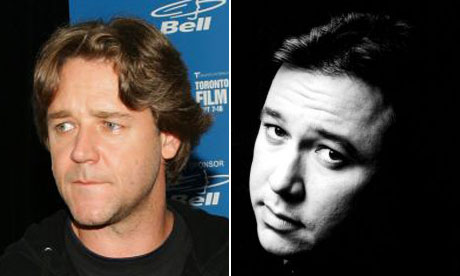 Russell  Crowe and Bill Hicks headshots