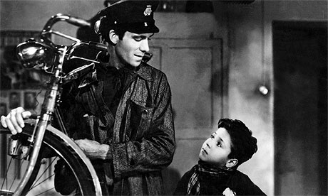 Lamberto Maggiorani and Enzo Staiola in Vittorio di Sica's 1948 Bicycle Thieves