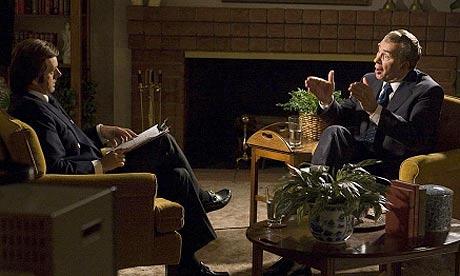 Michael Sheen and Frank Langella in Frost/Nixon