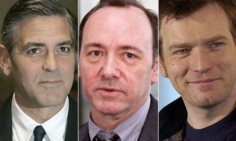 George Clooney, Kevin Spacey and Ewan McGregor