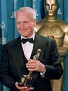 Paul Newman receiving the Jean Hershholt Humanitarian Award at the 1994 Oscars ceremony