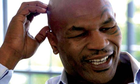 A scene from the biopic of boker Mike Tyson