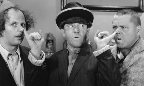Nose for laughs ... THE THREE STOOGES. Photo: John Springer Collection ...