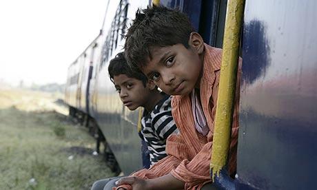 Scene from Slumdog Millionaire