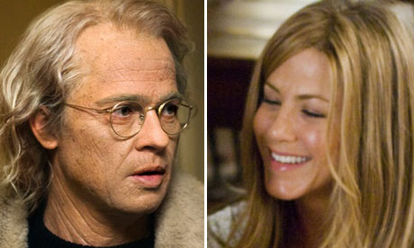 Brad Pitt in The Curious Case of Benjamin Button and Jennifer Aniston in Marley & Me