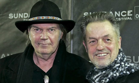 Neil Young and Jonathan Demme at the Heart of Gold premiere, Sundance 2006