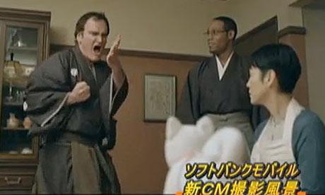 Quentin Tarantino advertising Japanese mobile phone SoftBank