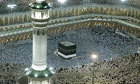 Muslims circle the Kaaba inside the Grand Mosque in Mecca