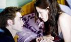 Robert Pattinson and Kristen Stewart in Twilight Saga: New Moon