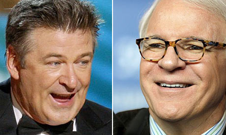 Alec Baldwin and Steve Martin. Photograph: Lucy Nicholson and Johannes ...