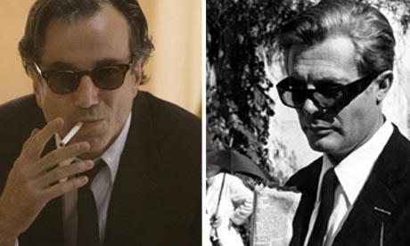 Daniel Day-Lewis in Nine and Marcello Mastroianni in 8 1/2.