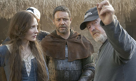 Ridley Scott directing Cate Blanchett and Russell Crowe in Robin Hood