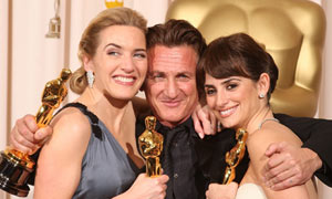 Oscars 2009 - Kate Winslet, Sean Penn and Penelope Cruz