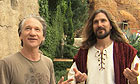 Bill Maher on the set of Religulous