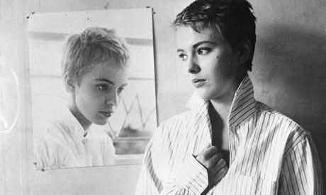 Jean Seberg in A Bout de Souffle, directed by Jean-Luc Godard