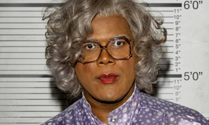 Tyler Perry in the film Madea Goes To Jail