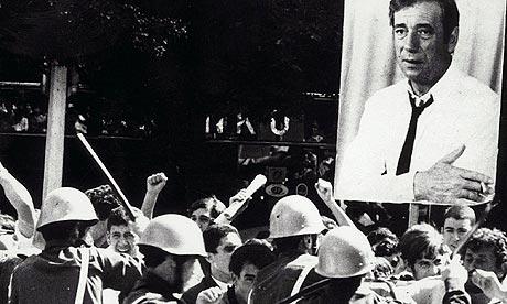 Scene from Z, directed by Costa Gavras (1969)