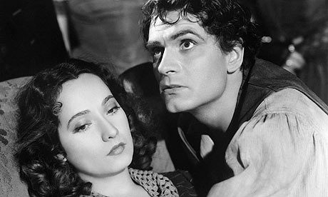 Merle Oberon and Laurence Olivier in Wuthering Heights (1939)