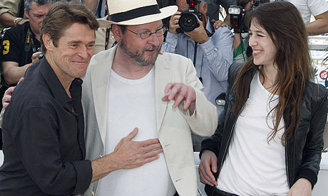 lars von trier. Lars von Trier with Charlotte