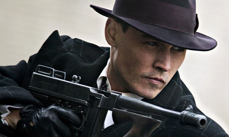 Johnny Depp as John Dillinger in a still from the film Public Enemies