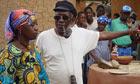 Ousmane Sembene directing Fatoumata Coulibaly in Moolade