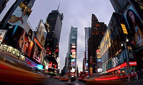 New York evening scene