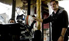 Quentin Tarantino on the set of Inglorious Basterds