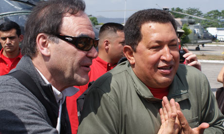 Oliver Stone's South of the Border ... Stone with Chavez