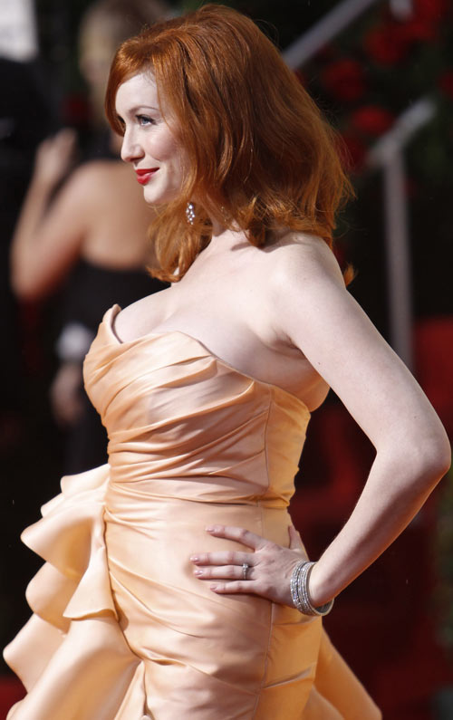 Golden Globes 2010: Christina Hendricks of Mad Men