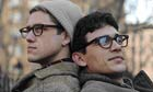 Aaron Tveit as Peter Orlovsky and James Franco as Allen Ginsberg in Howl