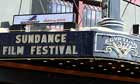 The marquee at the Egyptian Theatre in Park City, Utah, promotes the 2010 Sundance film festival