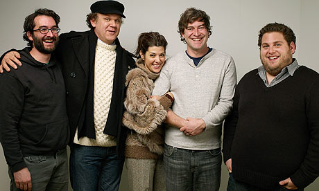 Cast and directors of Cyrus at the film's premiere at the 2010 Sundance film festival